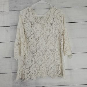 Erin London Bell Sleeve Lace Top